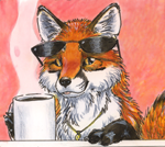 Shadowfox and his favorite cup of coffee...