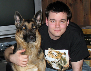 File:Spike blackfang irl with gretchen the gsd.jpg