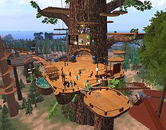 Luskwood platform in Second Life
