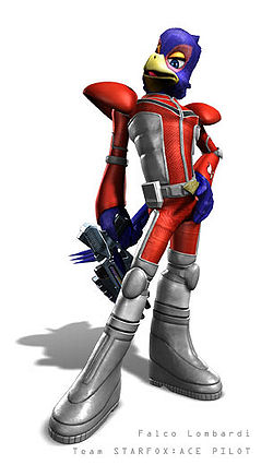 Falco Lombardi in Star Fox: Assault.