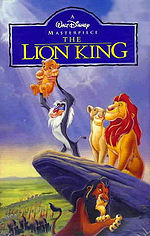 The Lion King 1995 VHS cover.