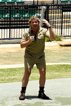 "Reknowned environmentalist and television wildlife personality Steve ""Crocodile Hunter"" Irwin tragically passed away on 4 September 2006."
