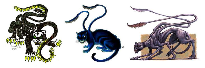File:Displacer Beasts editions 1 2 3.jpg