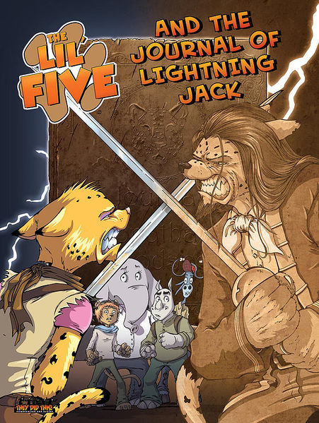 File:Cover image for second book, The Lil' Five and the Journal of Lightning Jack.jpeg