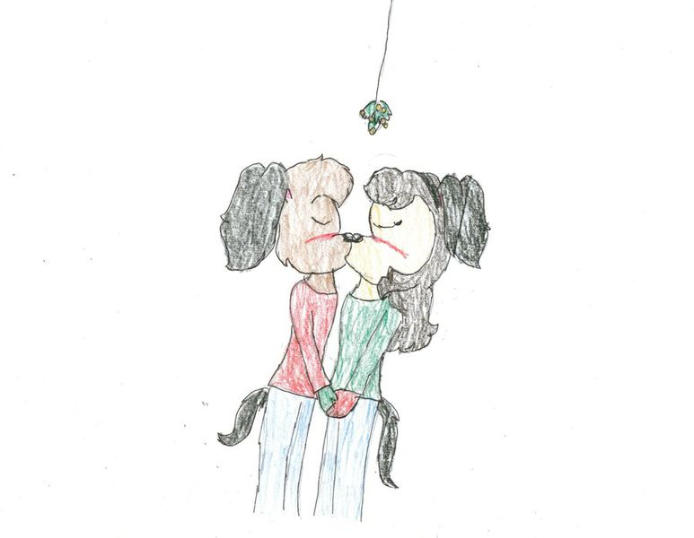 File:Helen and i under the mistletoe by parappa390-d4jm5za.jpg