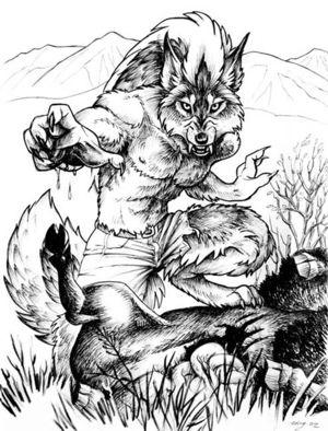 狼人的可爱简笔画图片大全