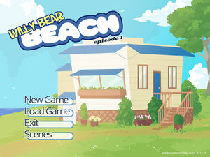 Opening screen of Willy Bear Beach.