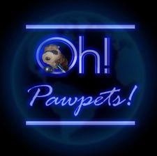 The Oh! Pawpets! Logo from Season 3, featuring the character Bwing T. Fewwet peering through the letter O in Oh!