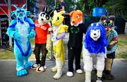Fursuiting at Chingay 2012