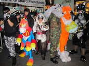 The fursuit and cosplay gang at SWB 2011