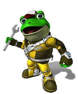 Slippy Toad in Star Fox: Assault.