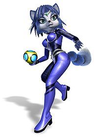 Krystal, as she appears in Star Fox: Assault.