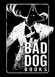 Bad Dog Books logo, designed by Kamui