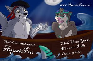 AquatiFur 2019 flyer by Kiba Softpaw