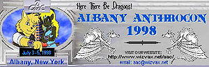 Albany AnthroCon 1998 banner