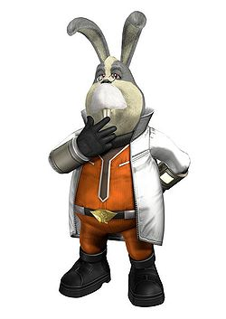 Peppy Hare in Star Fox: Assault.